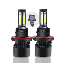 2x LED H13 Car Headlight Bulbs H4 H1 H7 H3 9005 9006 9004 9007 Hi-Lo COB LED 80W 8000LM 6500K 12V Auto Headlamps Front Fog Lamps panlelo 5002 led car headlight lamps h1 h3 automobiles drl kit fog white auto 12v free shipping car goods lamps on the car