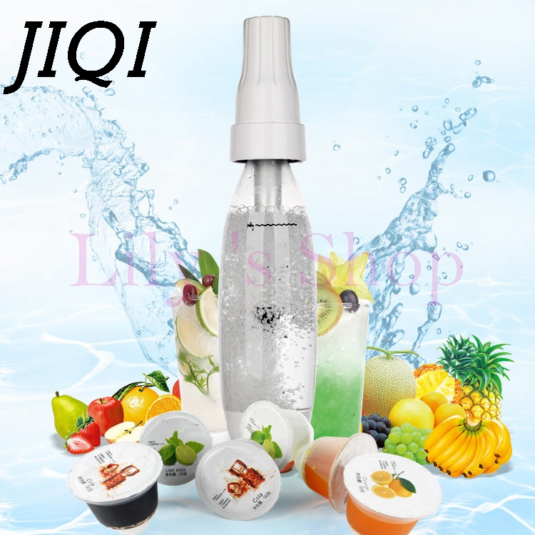 JIQI Portable juice sodas siphon soda water machine Spritzers 1L bubble water carbonated drinks beverage maker Infusions 1000ml