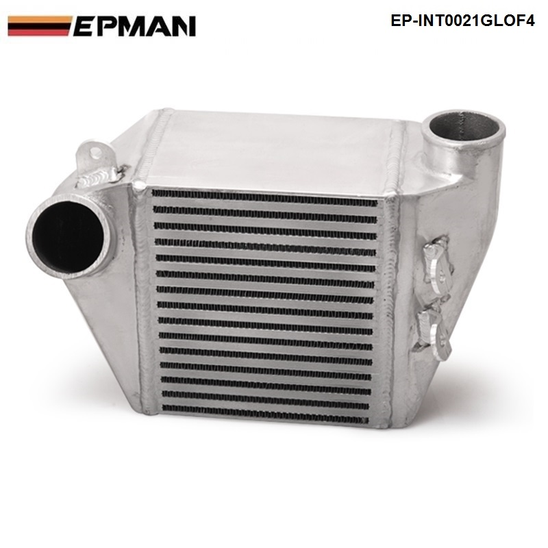 EPMAN -For VW JETTA GOLF 1.8T MK4 BOLT ON ALUMINUM SIDE MOUNT INTERCOOLER 1.8L TURBO CHARGE Tansky EP-INT0021GLOF4 epman universal 2 25 inch 57mm turbo intercooler aluminum pipe silicone hose kit black length 600mm for bmw e60 ep lgtj57 600