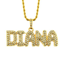 and American gangster rap jewelry necklace male element set auger personality letter pendant men clothing accessories(China)