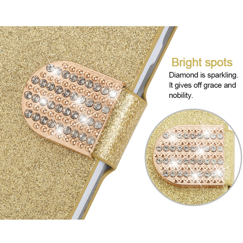 Image 5 - New Fashion Luxury Glitter Diamond Leather Case Xiaomi Redmi Note 5 Pro Plus 5A Wallet Original Flip Phone Cover-in Half-wrapped Cases from Cellphones & Telecommunications