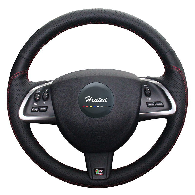 Heated Steering Wheel Cover for Jaguar xf car styling Artificial Leather Braid on the steering wheel