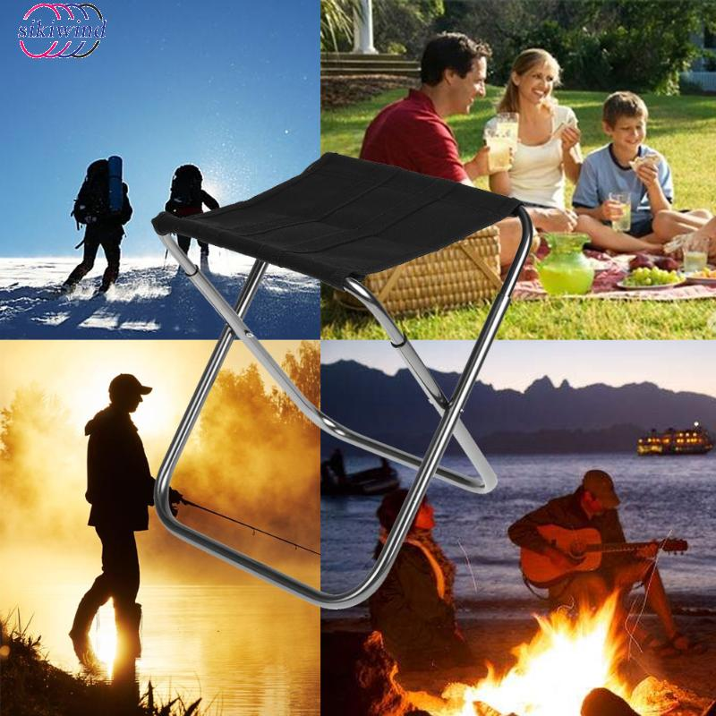 Smart Outdoor Lightweight Aluminium Alloy Fishing Chair Portable Folding Backpack Camping Picnic Fishing Chair Beach Small Seat Novelty & Special Use
