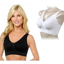 4b957d4cac 3pcs lot ahh Bra without pads Sexy Seamless wire free plus size bra (opp