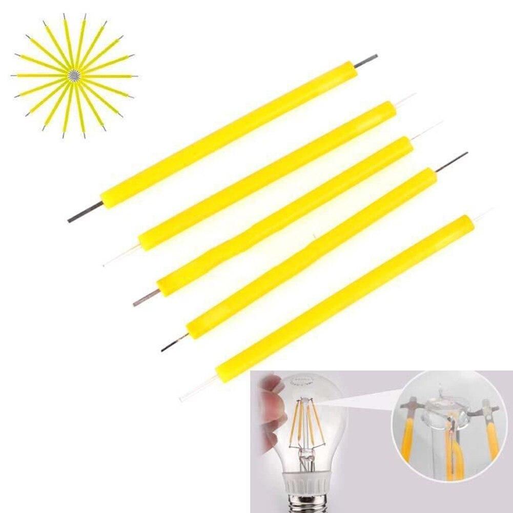 5 шт./компл. 1 Вт COB светодиодный лампочка накаливания свеча источник света Супер яркая светодиодная лампа Освещение DIY фиксатор осветляющие аксессуары