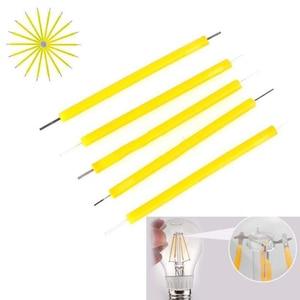 5 шт./компл. 1 Вт COB светодиодный светильник накаливания свеча источник супер яркий светодиодный светильник ing DIY фиксирующий светильник аксе...