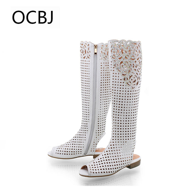 Popular White Leather Boots Women-Buy Cheap White Leather Boots ...