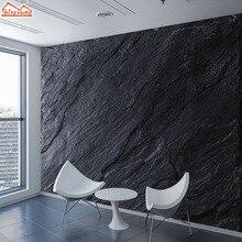 Пользовательские обои фрески 3d обои для стен гостиной бумаги домашний декор черный мраморный узор Фреска рулоны стены спальни искусство