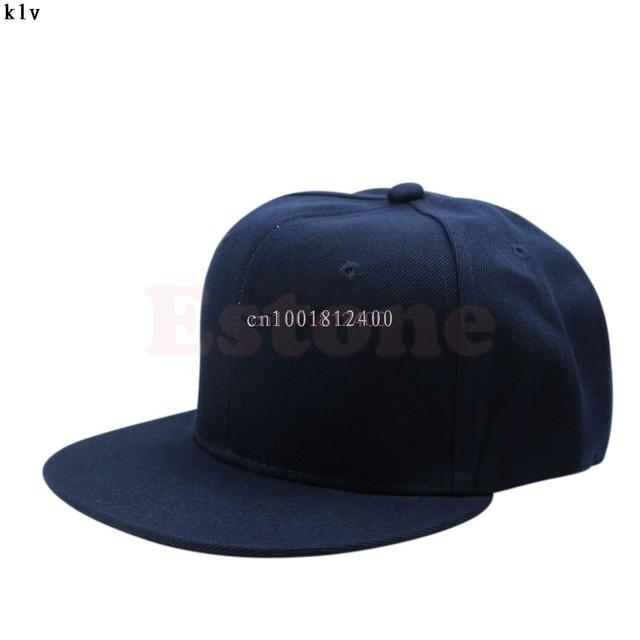 2da8fb6ef1b Baseball hat Cap Blank Plain Snapback Hats Unisex Men s Hip-Hop Adjustable  B-boy