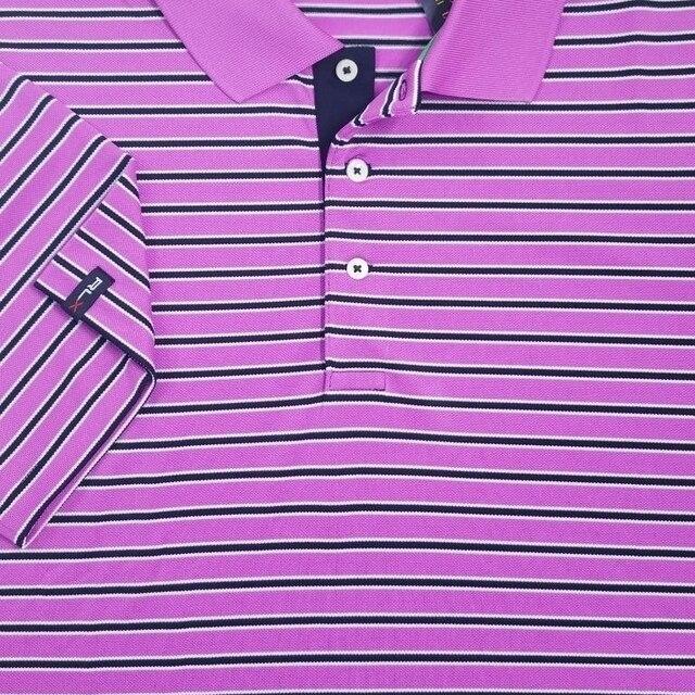 54cf4a23 best price rlx ralph lauren polo mens rugby shirt pink striped sz l nwt 99  a2ed1