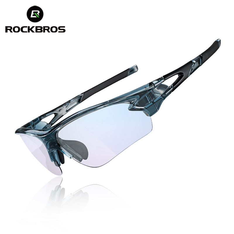 ROCKBROS Bicycle Men's Sunglasses MTB Photochromic Glasses Anti Blue Rays Computer Outdoor Sports Eyewear with Myopia Frame