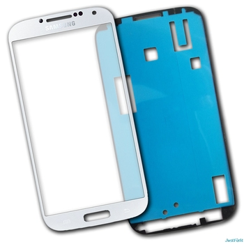 replacement Front Glass Lens For Samsung Galaxy S4 i9500 i9505 glass LCD display outer touch panel screen glass +Stickers image
