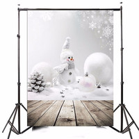 3x5ft Photography Vinyl Background Christmas Theme Snowman Photographic Backdrops For Studio Photo Props 0 9m X