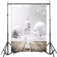 3x5ft Photography Vinyl Background Christmas Theme Snowman Photographic Backdrops For Studio Photo Props 0 9m X