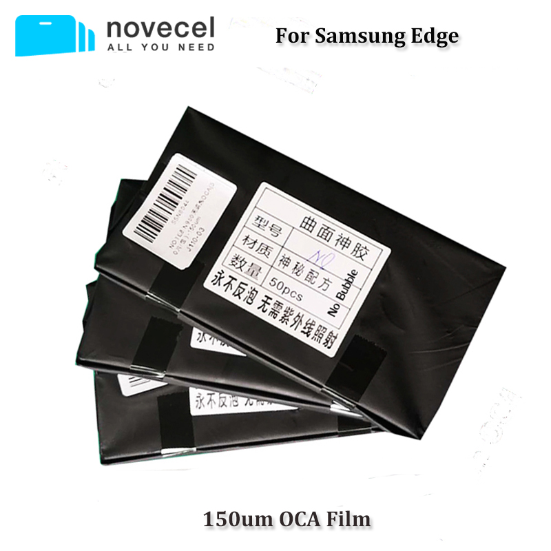 Novecel New Arrival 50pcs 150um OCA Optical Clear Adhesive for Samsung S7 edge S8 S8+ Note 8 Glue Touch Glass Lens Film