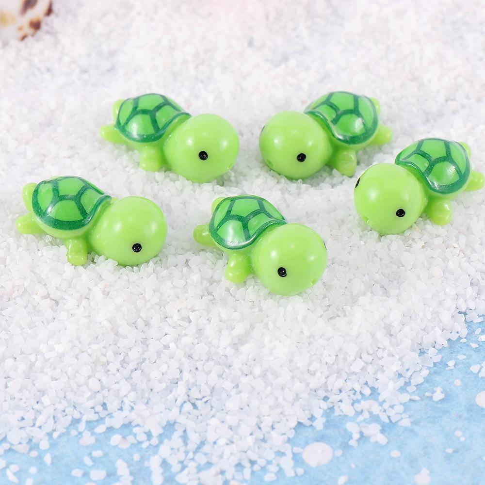 Turtle on Stone Mini Miniature Fairy Garden Ornament Decor DIY Craft Accessories