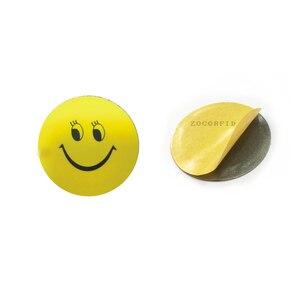Image 5 - (10 sztuk/partia) RFID 125KHz T5577 wielokrotnego zapisu monety karty Tag do kopiowania okrągły kształt naklejki wykorzystanie do telefonu komórkowego