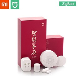 Xiaomi MIJIA 5 in 1 Smart Home Kit Bundle ZigBee Socket Gateway Hub Human Body Window Door Sensor Wireless Switch Mini