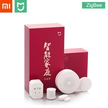 Xiaomi MIJIA 5 in 1 Akıllı Ev Kiti Paketi ZigBee Soketi Ağ Geçidi Hub Insan Vücudu Pencere Kapı Sensörü Kablosuz Anahtarı mini