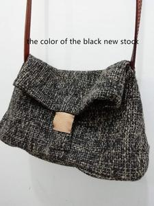 Image 5 - Linen Satchel Bag 2020 Casual Fabric Soft Shoulder Bag Lady Leisure Daily Slouch Bag Preppy Style School Crossbody Bag for Women