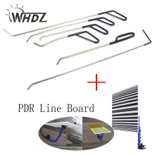 Set Auto Repair Tool Set PDR Rod PDR Line Board Tool Kit with adjustment holder For Car Dent Paintless Removal