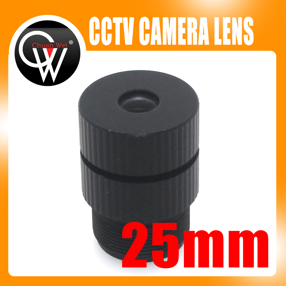 New 25mm lens 14 Degree 1/3 and 1/4 CCD MTV IR Board Lens For CCTV Security Camera guaranteed 100% 16mm 20 degree angle fixed cctv ir board camera lens for both 1 3 and 1 4 ccd