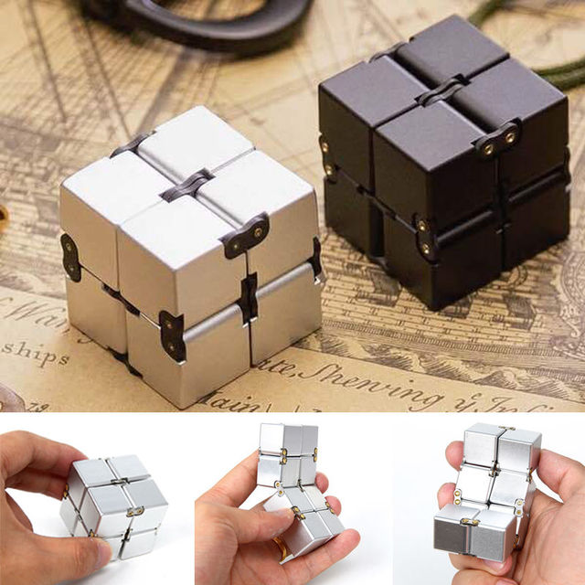 infinity cube. infinity cube fidget toy finger edc anxiety stress relief magic blocks adult children u