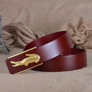 Image 3 - Fashion Business Crocodile Smooth Buckle Designer Belts Men High Quality100% Genuine Leather Belt Men Luxury 110 125cm