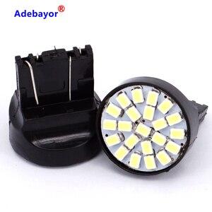 Image 3 - 100X T20 7443 W21/5 W 22 1206 LED 3014 SMD araba reversing yedekleme lambası dönüş direksiyon yön göstergesi lamplet dur fren işık