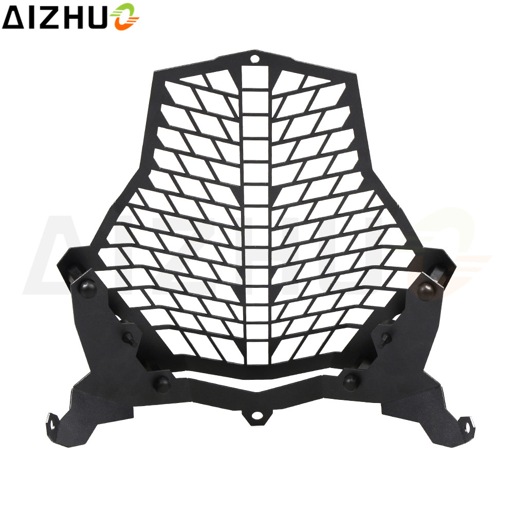 Motorcycle Front Lamp Protector Stainless Steel Motor Front Light Headlight Head Light Guard Grill Cover For KTM 1190 Adventure motorcycle scooter electroplate front headlight headlamp head light lamp small mask cap cover shield large for yamaha bws x 125
