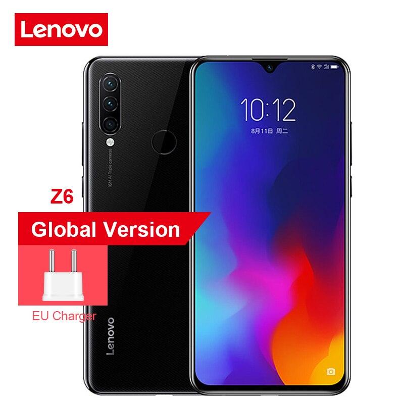 Global Version Lenovo Z6 Lite 4GB 64GB Snapdragon 710 Octa Core Triple Back Cams 6.3 Inch 19.5:9 Water Drop 4050mAh Smartphone