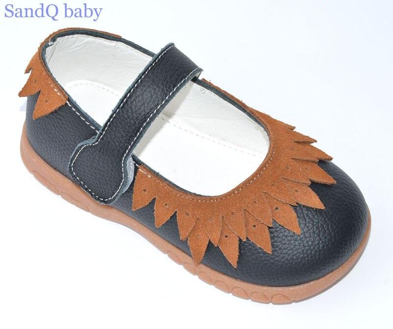 κορίτσια δερμάτινα παπούτσια μαύρο - Παιδικά παπούτσια - Φωτογραφία 2