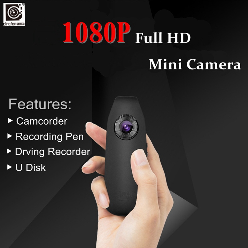 DINGFENTECH ID07 1080P Full HD Wireless Mini Pen Camera Micro Body Worn Audio Video Car Recorder Motion Action DV DVR Camcorder