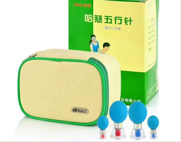 Factory Sale Chinese HACI Suction Cupping Silver Plated Magnetic Suction Cupping Set 18 Cups Cupping Therapy
