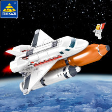 KAZI Schepper City Space Shuttle Raket Satelliet Station Technic Bouwstenen Star Bricks Model DIY Speelgoed voor Kinderen geschenken(China)