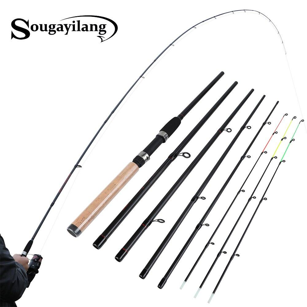 Sougayilang Fishing Rod 99% Carbon Feeder Rod Fuji O ring 300cm Length 6 Sections Lure Fishing Stick Fishing Tackle De Pesca