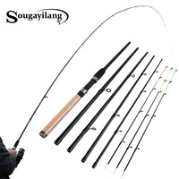 Sougayilang Fishing Rod 99% Carbon Feeder Rod Fuji O ring 300cm Length 6 Sections Lure Fishing Stick Fishing Tackle De Pesca