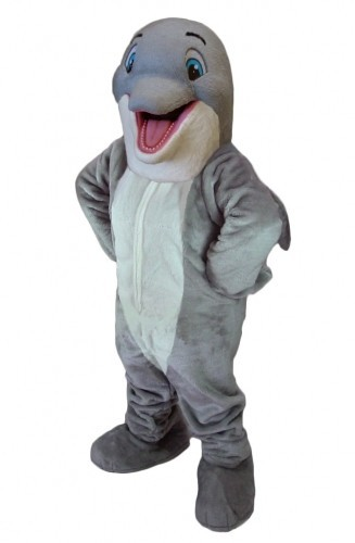 Happy Dolphin Mascot Costume