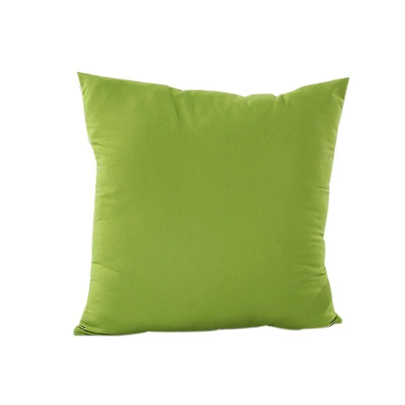 Prefect Quality Solid Throw Pillow Case Cotton Linen Pillowcase Decorative Pillows For Sofa Seat Cushion Cover Home Decor