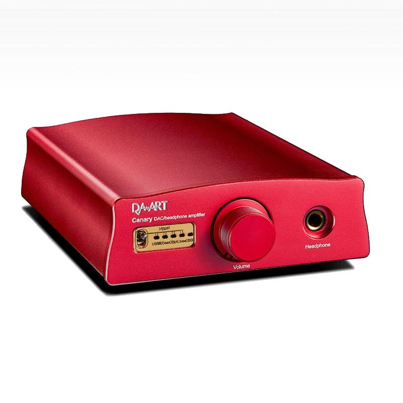 DAART Canary HIFI Multi Functional DAC Amplifier JFET Input class A Headphone AMP XMOS+ESS9018K2M Supports DoP128 Native DSD256