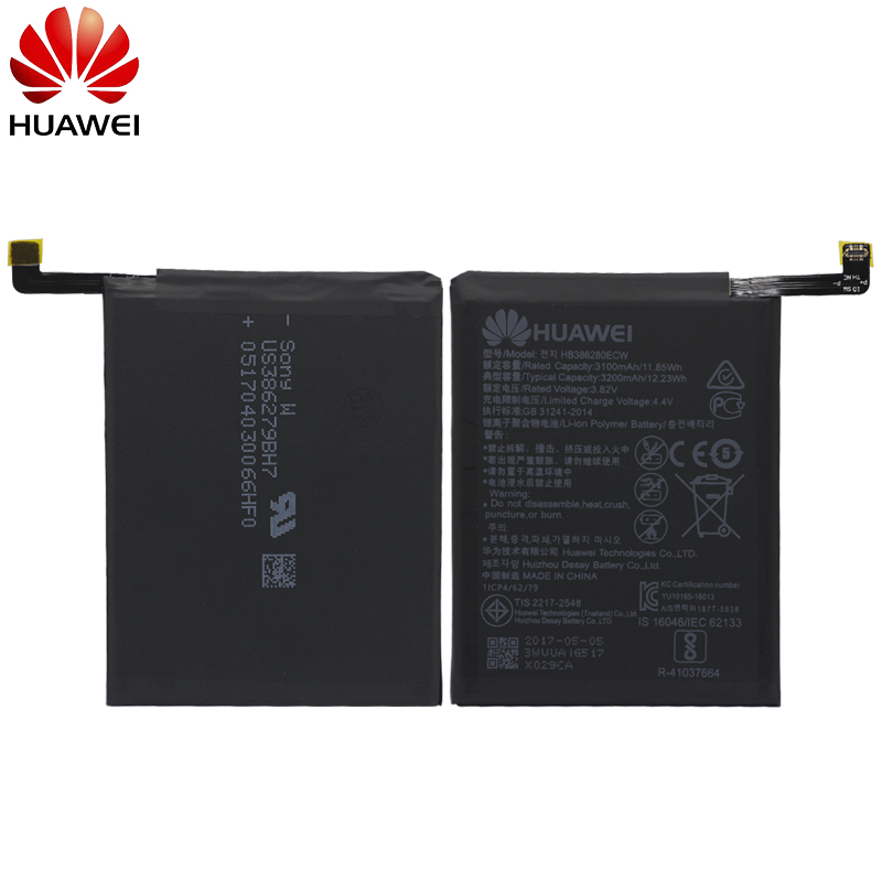 Hua Wei Original Phone Battery HB386280ECW 3100mah For Huawei Honor 9 Ascend P10 High Quality Batteries Retail Package +Tools