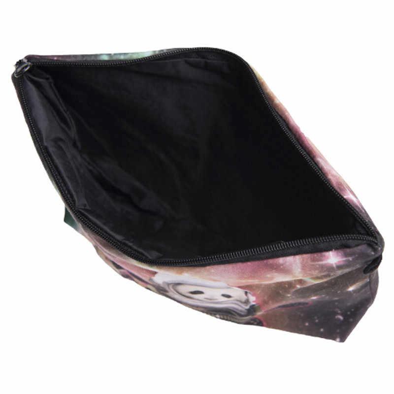 Moda compõem sacos 3d animal impressão cosméticos pouchs para viagens organizador bolsa cosmética saco para mulher