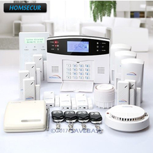 HOMSECUR Wireless&wired GSM Home Security Alarm System ( Support ES / DE / FR / EN / RU voice) + Wireless Signal Booster(China)