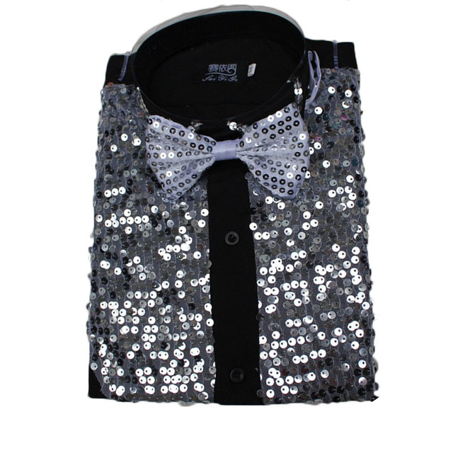 Men Latin Dance Dress Latin Dress Dance Dresses Latin Dance Costumes Cotton Blend Sequin Shirt Modern Tango Rumba Dance Wear