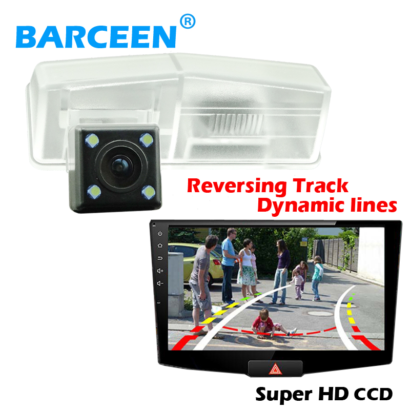 Auto car rear reversing camera bring dynamic track line+ plastic shell material and glass lens use for Toyota RAV4 2014
