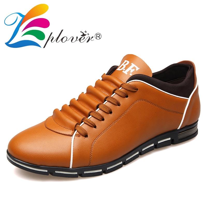 Zplover Big Size 37-50 Heren Casual Schoenen Mode Lederen Schoenen - Herenschoenen