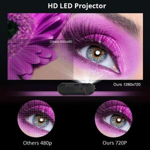 Image 3 - BYINTEK K9 Mini 720P 1080P LEDแบบพกพาMicroโฮมเธียเตอร์โปรเจคเตอร์Beamer (อุปกรณ์เสริมMulti สำหรับiphone Ipadโทรศัพท์แท็บเล็ต)