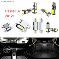 14 unids led canbus luces interiores kit package para volkswagen vw passat b7 (2012 +)