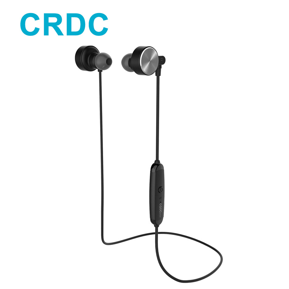 Powerful CRDC Sport Bluetooth Earphone 4.1 Headphones Magnetic Clasp Secure-fit Headset Wireless Stereo Noise Reduction with Mic powerful crdc sport bluetooth earphone 4 1 headphones magnetic clasp secure fit headset wireless stereo noise reduction with mic