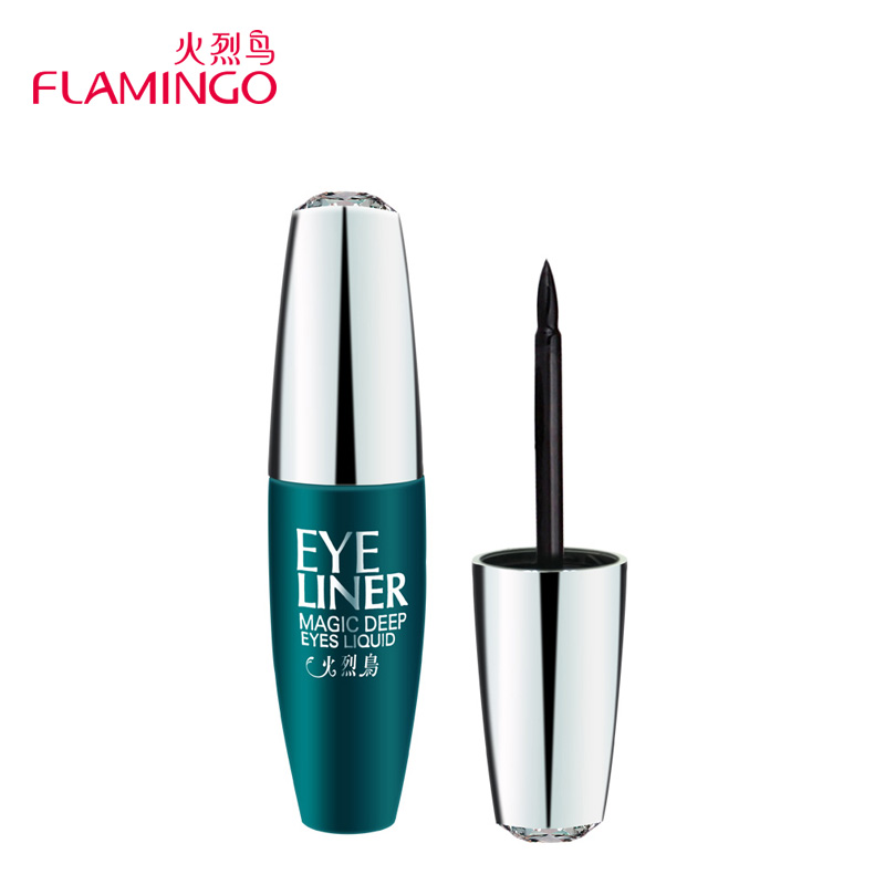 Free Shipping Top Makeup Brand Flamingo Cosmetic Beauty Water Remove kohl dizzy dye eye-liners Long Lasting Liquid Eyeliner 185